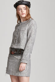 Emily Frayed Tweed Jacket
