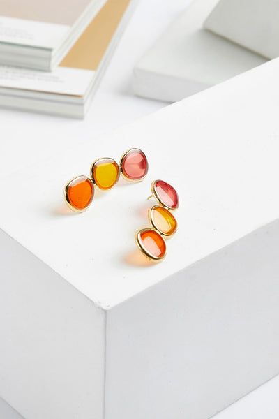 Transperant Jewel Drop Earrings by STORETS