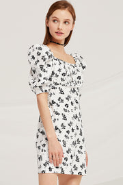 Chloe Square Neck Floral Dress