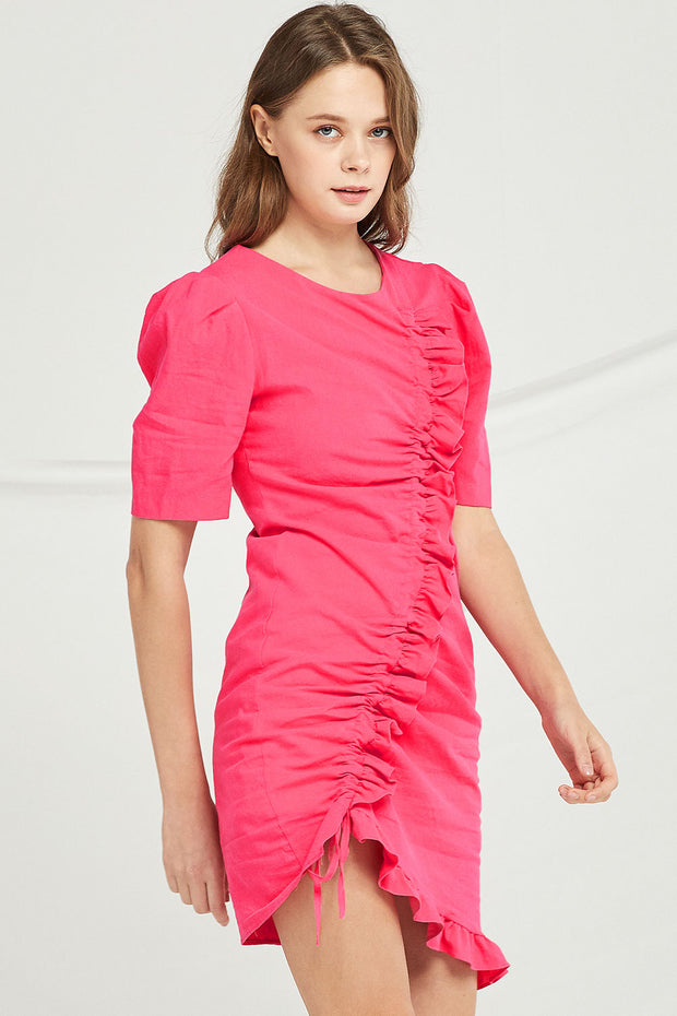 Kylie Drawstring Ruched Dress