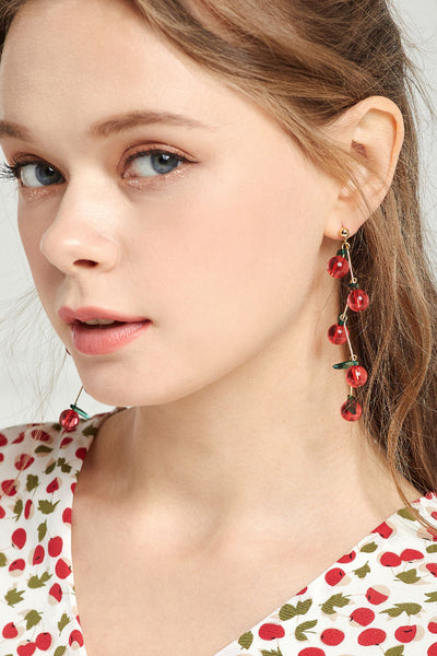 Cherry Berry Drop Earrings by STORETS