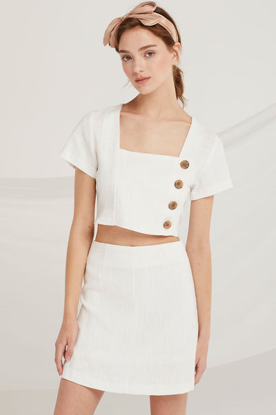 Fernanda Crop Shirt And Skirt Set by STORETS
