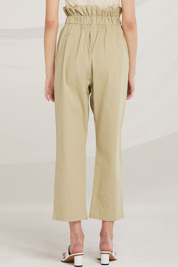 Veda Double Belted Paperbag Waist Pants