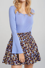 Karrie Top Floral Skirt Set