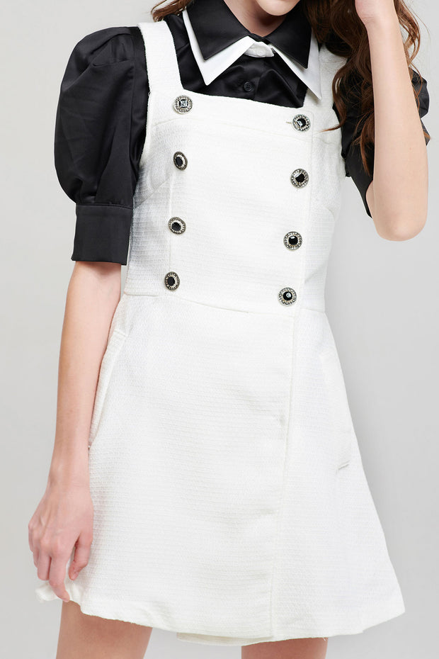 Esme Buttoned Pinafore