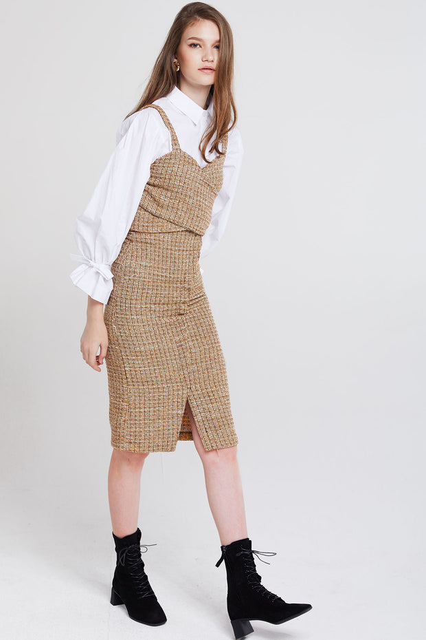 Esther Mottled Tweed Top