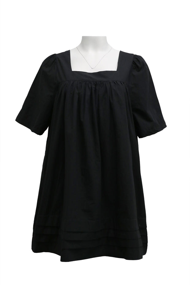 Khloe Pintuck Square Neck Dress