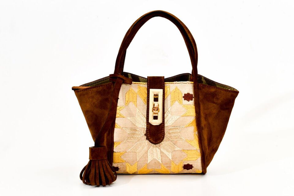 Lumsi Small Satchel Bag - Brown