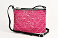 FAY Triple -zip Crossbody Bag - Black / Fushia