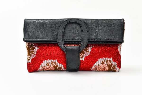 Casablanca Foldover Clutch - Vintage Flower Fabric
