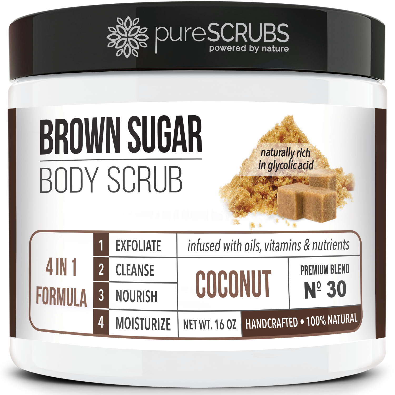 Coconut Body Scrub / Brown Sugar / Premium Blend #30