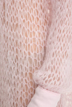 Load image into Gallery viewer, Open Weave Turtleneck Knit Dress - Pink