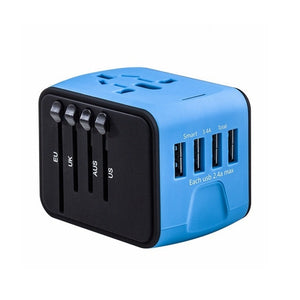 Agatha Travel International Plug Adapter Blue
