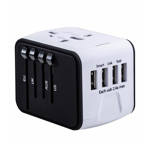 Agatha Travel International Plug Adapter White