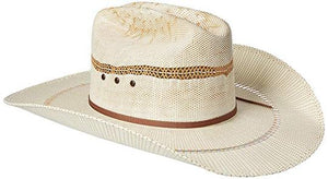 'Ariat' A73126 - Western Bangora Straw Hat - White