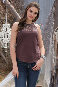 'Cruel' CTK7153003 - High Neck Tank - Brown