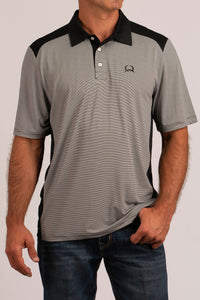 'Cinch' MTK1832001 - ArenaFlex Polo Shirt - Gray / Black