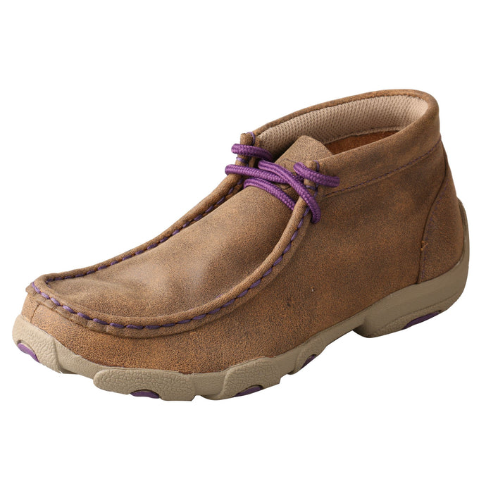 Kid's Driving Moccasin - Bomber / Purple