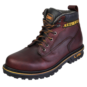 "A-Borce 6"" Steel Toe Boot - Brown / Black"
