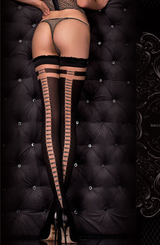 Image of Black Thigh High Stockings