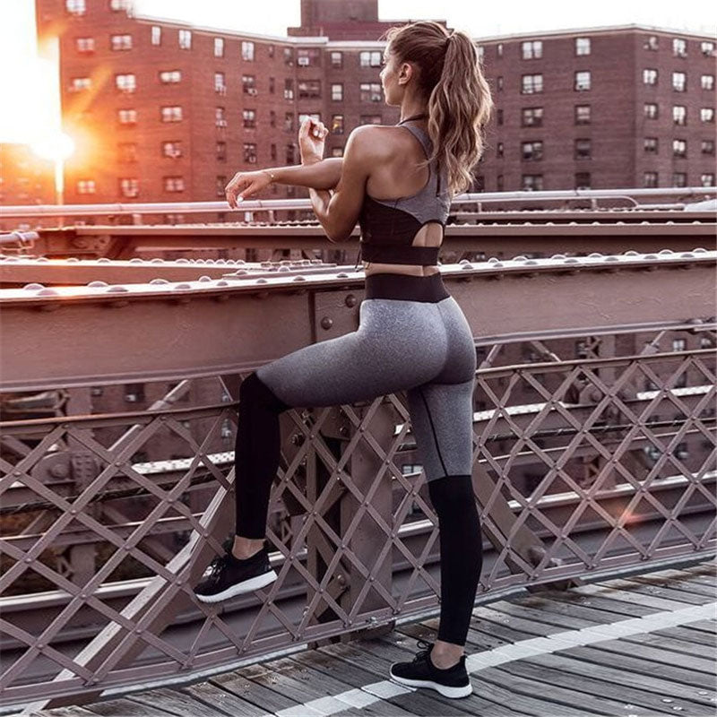 Casual Sporting Tracksuit Women 2 Piece Set Fitness Clothes Workout Sportswear For Female