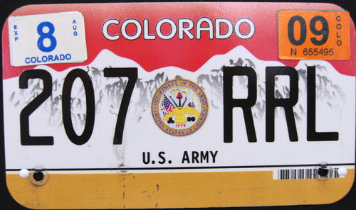 COLORADO VETERAN U.S. ARMY 2009 207RRL