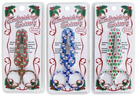 Holiday Embroidery Scissors with Leather Sheath #118-20, Sewing & Quilting Thread, 3.75""