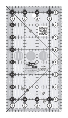 "4-1/2"" x 8-1/2"" Turn-a-Round Non-Slip Quilt Ruler from Creative Grids, #CGR48"