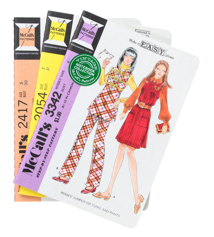 McCall's Patterns Vintage Notebook Collection, set of 3 books