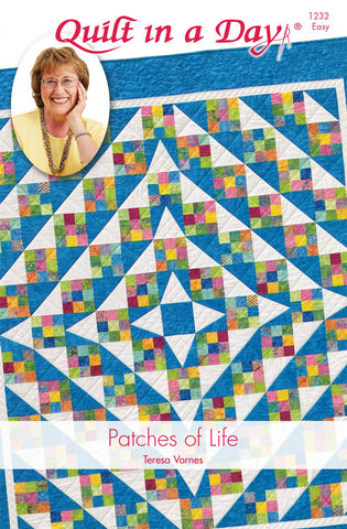 Patches of Life Quilt Pattern, Eleanor Burns Quilt in a Day, 1232 EASY