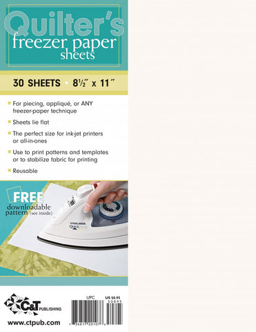 "Quilter's Freezer Paper Sheets, 8 1/2 x 11"", 30 Sheets"