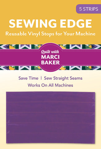 SEWING EDGE, Reusable Vinyl Stops for Your Machine, by Quilt with Marci Baker Test