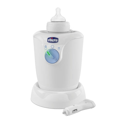 Baby equipment rental in Lisbon, Portugal. Chicco bottle warmer for the best care of your baby.