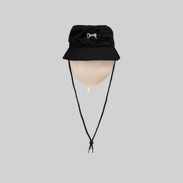 Unisex Scripted Bucket Hat Black