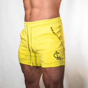 Leg Day Short Shorts // Yellow
