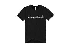Diamond Text Logo T-Shirt - Black