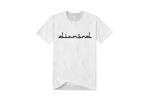 Diamond Text Logo T-Shirt - White