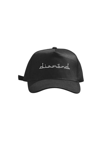 Black Cap - Silver Diamond Text