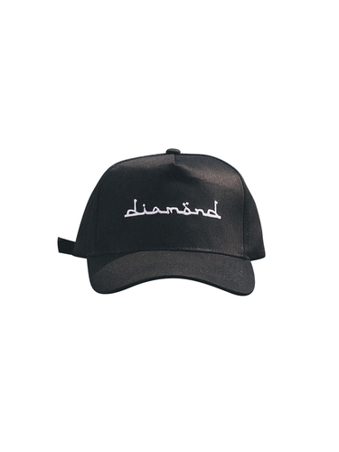 Black Cap - White Diamond Text