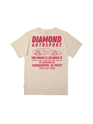 Mechanic Vintage T-Shirt - Deep Red Print