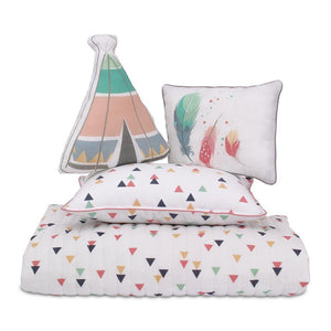 Boho 4 Piece Toddler Bedding Set - Lincove