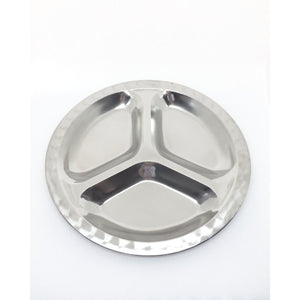 Stainless Steel Divided Food Plate Small
