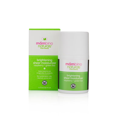 Brightening Sheer Moisturizer, Raspberry + Green Tea