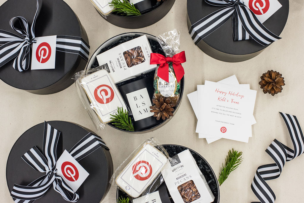 Pinterest custom client gift boxes
