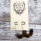 Cedar Street Boutique Half Circle Drop Earrings