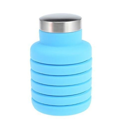 500ML Outdoor Collapsible Water Bottle Water Bottles ZOOOBE CLASSIC Store 500ML Blue