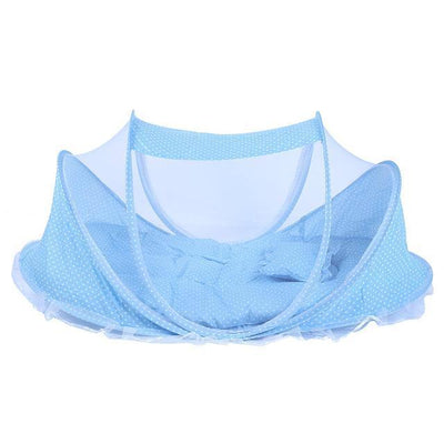 Portable Anti-Mosquito Baby Crib Cradle kissbuyonline Skyblue