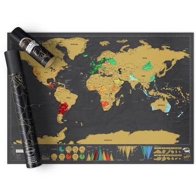 Scratch Off World Map Poster Puzzle Penguin Delivery
