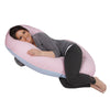 The C Body Pillow Cotton Pink and Blue Main