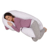 The C Body Pillow Cotton White Flipped